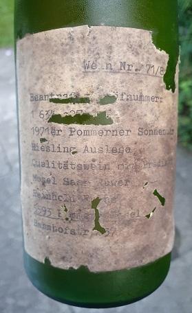 1971 Pommerner Sonnenuhr Riesling Auslese